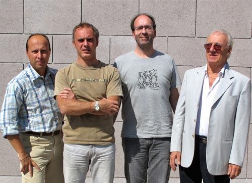 Foto, de izquierda a derecha: Luca Giorgi, director de ventas. Claudio Lastrucci, Director general. Thomas Mittelmann, Gerente de desarrollo de negocios. Carlo Lastrucci, Presidente