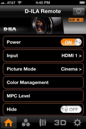 App D-ILA Remote
