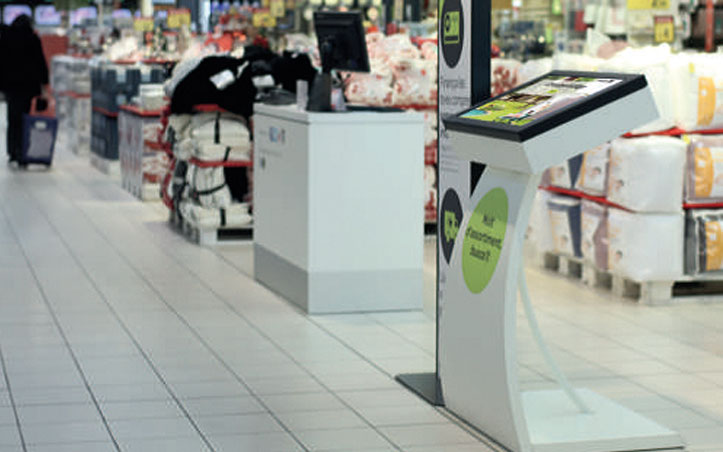 Digital signage en Carrefour