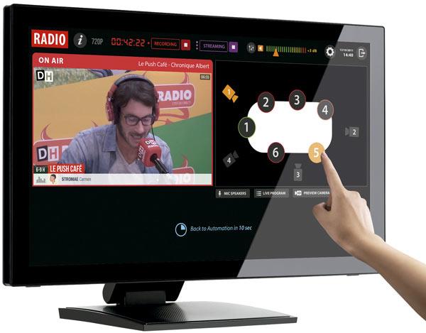 Interfaz del software Multicam para la producción con cámaras PTZ
