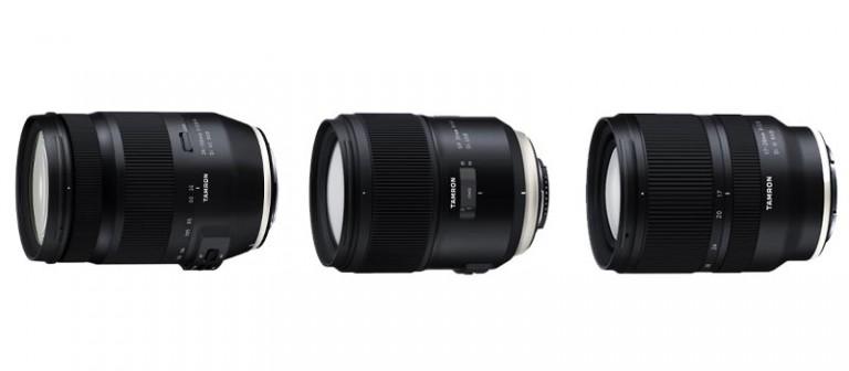 Objetivos que Tamron fabricará para cámaras DSLR y Mirrorless durante 2019