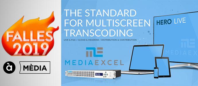 La tecnología de codificación de Media Excel ha sido aplicada en Fallas 2019 por À Punt