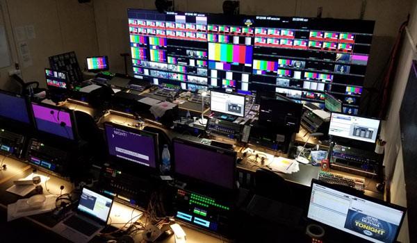 Sala de control de NEP Group utilizada durante la FIFA World Cup 2018