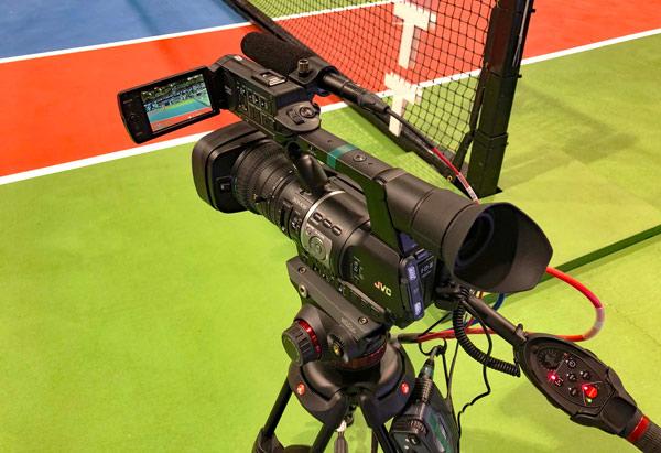 Camcorders de JVC empleados en la cobertura de World Team Tennis