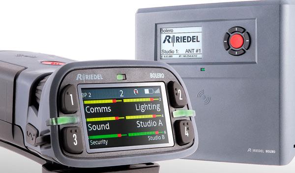 Detalle de la pantalla de los sistemas de intercom Bolero de Riedel