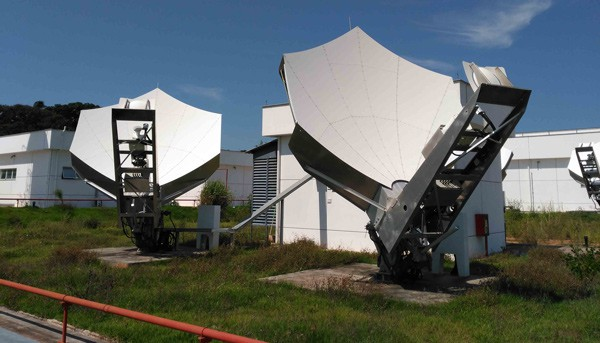Una pequeña muestra de la infraestructura desplegada en el centro de satélites de Serviente de Hispamar