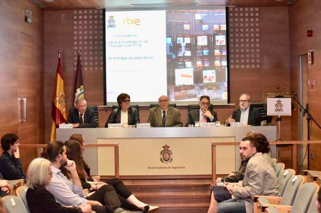 Acto de entrega de la I Convocatoria de Impulsa Visión Ayudas a la Investigación de RTVE