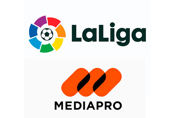 Logotipos de Mediapro y LaLiga