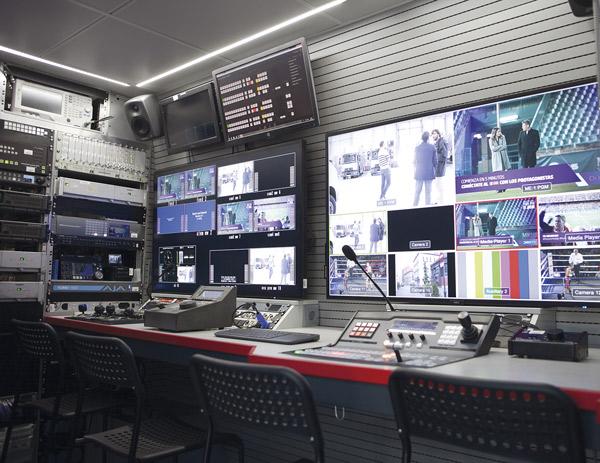 Sistema completo de las Unidades Móviles de Mediapro