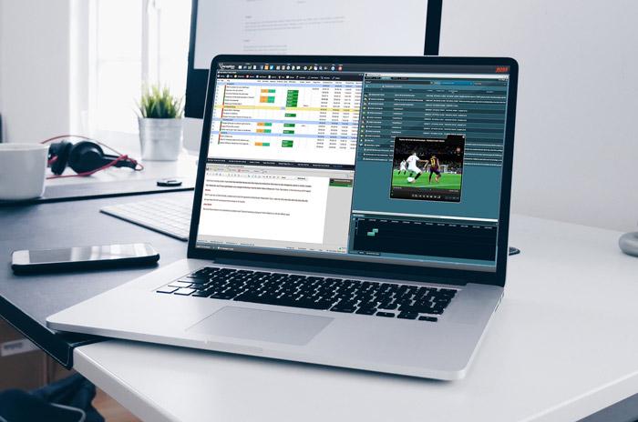 Simulación de la aplicación NewsConnect de VSN en un portátil