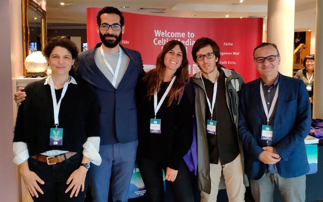 Miembros de la delegación gallega en el Celtic Media Festival 2019