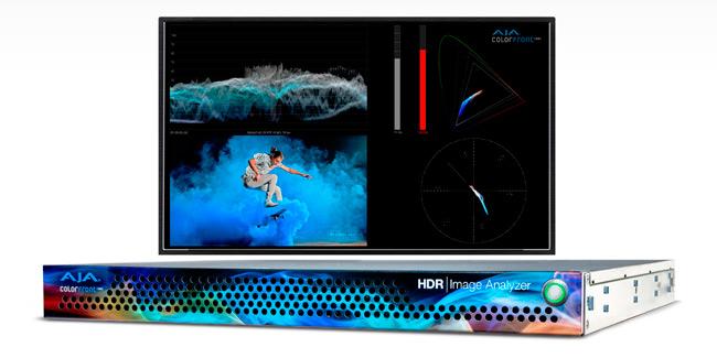 Unidad de rack y visualización en pantalla del HDR Image Analyzer de AJA