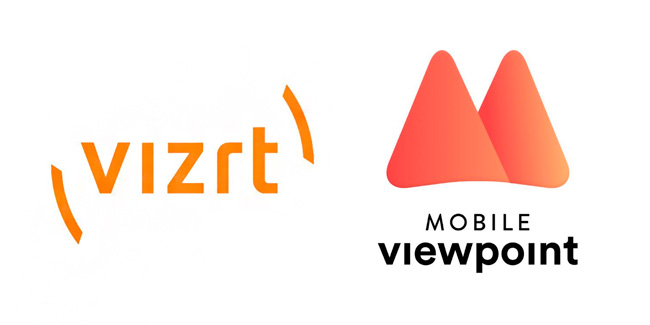 Logos de Vizrt y Mobile Viewpoint