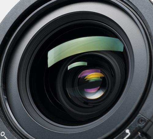 Óptica de una cámara cinematográfica