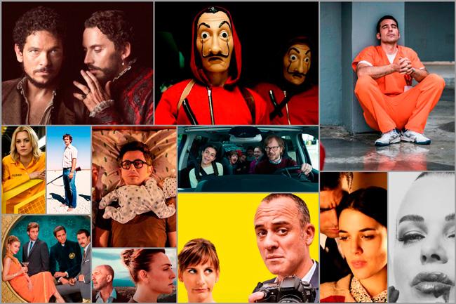 Algunas de las producciones de Atresmedia y Movistar+