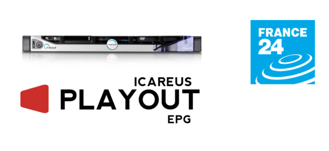 Logotipo de France 24 y de Icareus Playout EPG