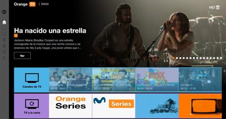 Interfaz de Orange TV en España. Los Android TV de la marca están protegidos con tecnología de Viaccess-Orca