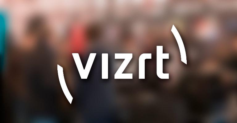 Logo de Vizrt con fondo de participantes en BITAM