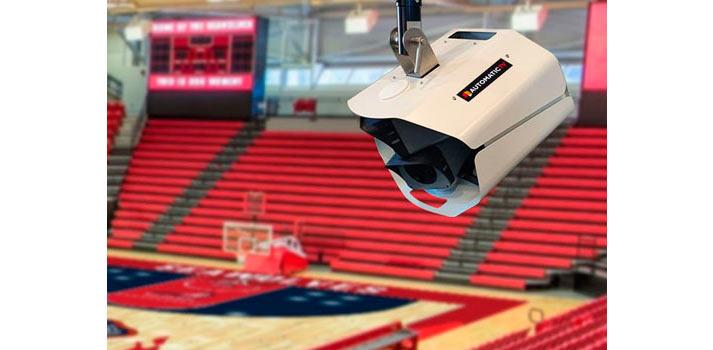 El hardware de Automatic TV instalado en una cancha de basket