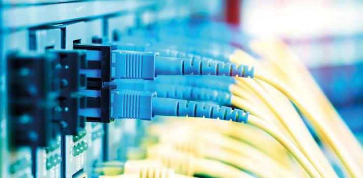 Rack con conexiones IP
