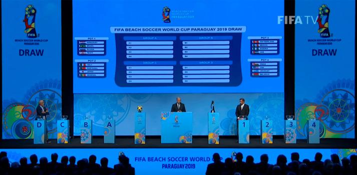 Sorteo FIFA Beach Soccer World Cup con wTVision