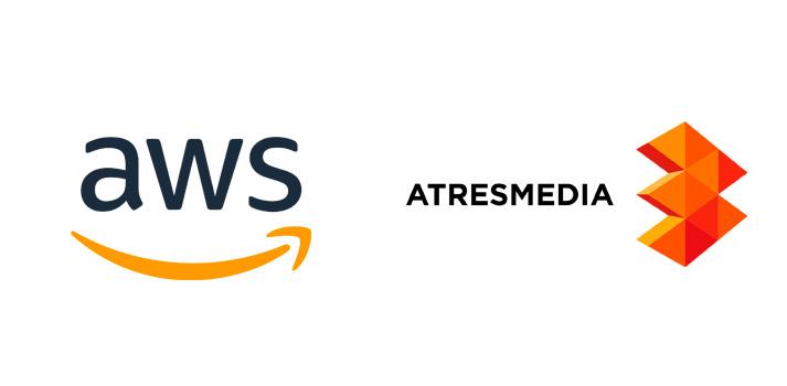 Logotipos de AWS y de Atresmedia