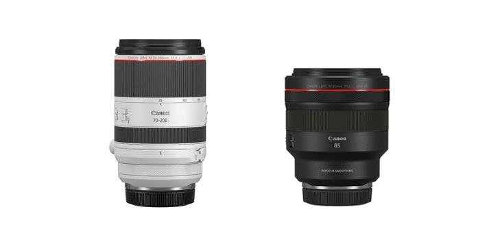 Los nuevos objetivos de la serie RF de Canon: RF 70-200 mm f/2,8 IS USM y RF 85 mm f/1,2L USM DS
