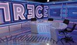 Plató de informativos de TRECE TV