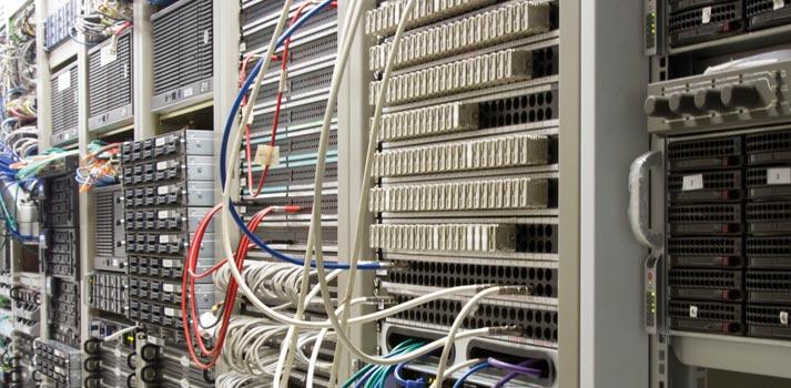 Panel de conexiones ubicados en las instalaciones de serena