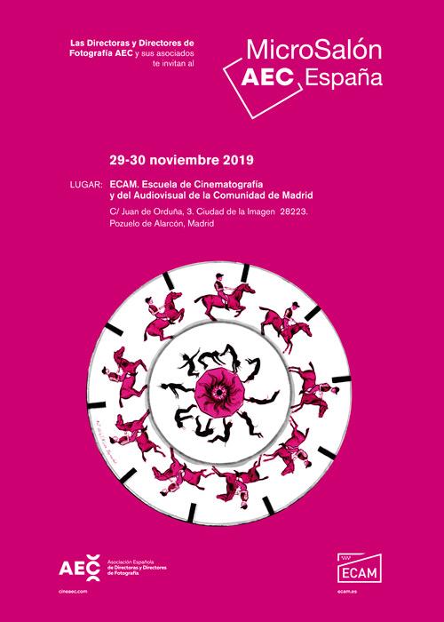 Póster que anuncia la edición 2019 del MicroSalón AEC España 2019
