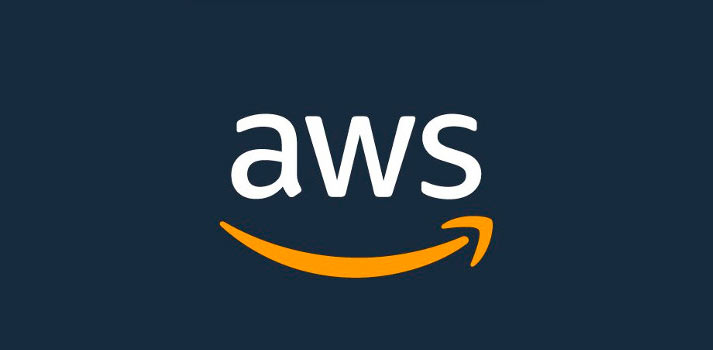 Logotipo de Amazon Web Services con fondo azul