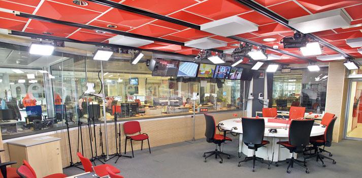 Estudio iluminado Radio Nacional de España
