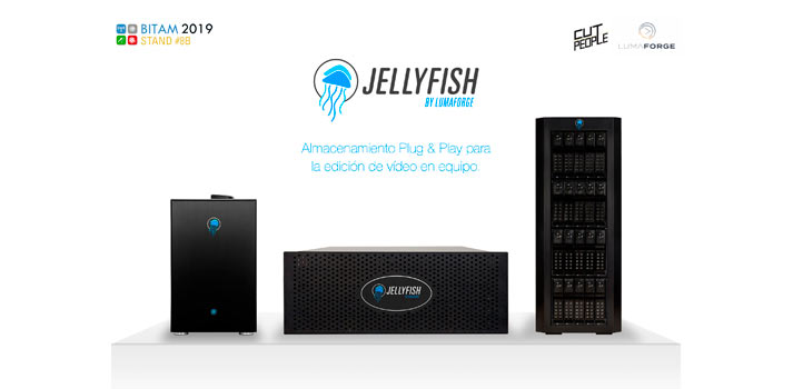 Imagen de la gama Jellyfish de almacenamiento de LumaForge
