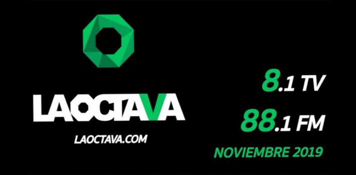 Imagen promocional del canal de televisión La Octava