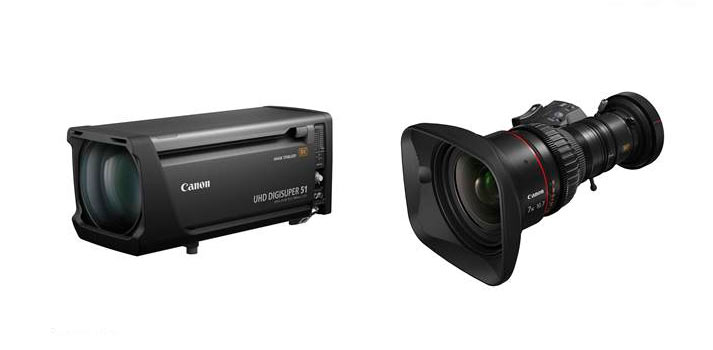 UHD-DIGISUPER 51 y el 7x10x7 KAS S, objetivos zoom para cámaras broadcast 8K Canon