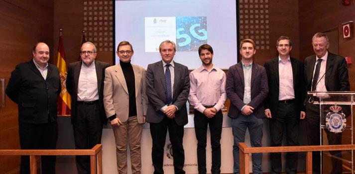 Participantes de la Jornada sobre el 5G aplicado a medios impulsada por RTVE