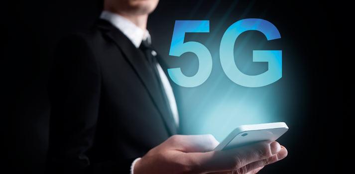 Tecnologías 5G pantalla smartphone