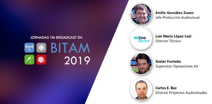 Ponentes de la conferencia BITAM Show 2019 sobre estadios deportivos