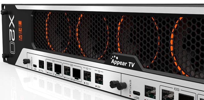 Equipo Platform X X20 de Appear TV
