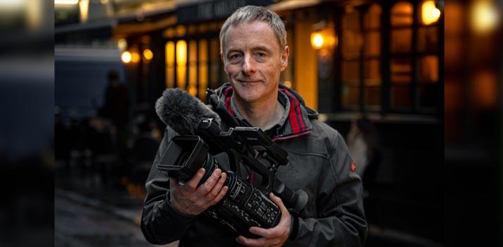 Responsable de ITV News con el camcorder PXW-Z280 de Sony