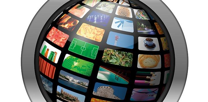 Representación de contenidos en forma de esfera