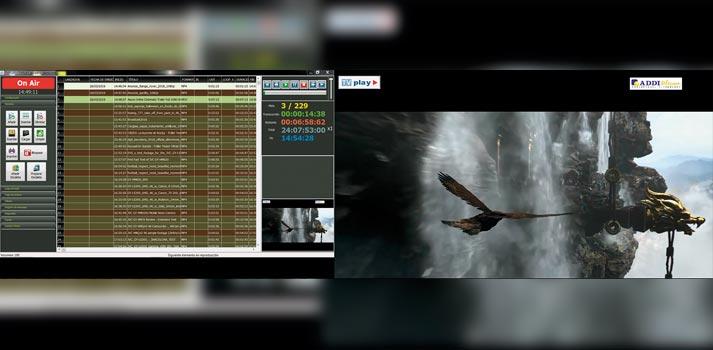 Ejemplo de contenido en el sistema TVPlay de Addi Telecom