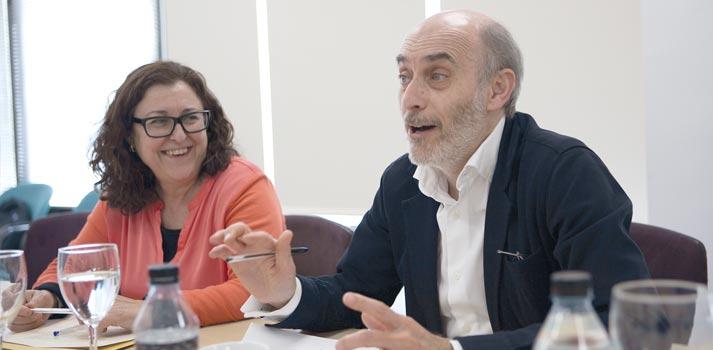 Lola Alfonso (Radiotelevisión Valenciana) y Alberto de Prada (RTVE)