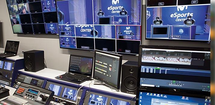 Sala de control técnica principal de Movistar Riders