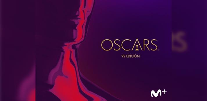 Imagen promocional de los premios Oscars 2020 en Movistar+