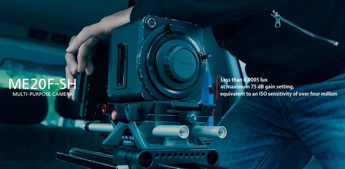 Imagen promocional de la cámara Canon ME-20F-SH