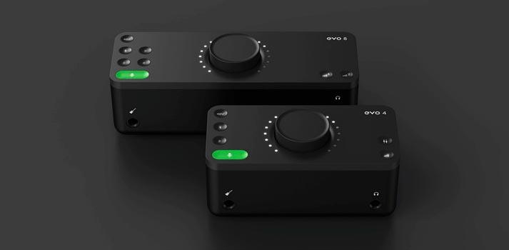 Dispositivos Evo 4 y Evo 8 de la nueva marca Evo de Audient