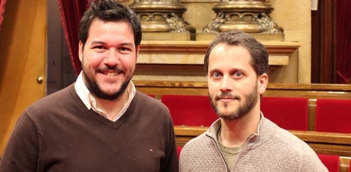 Trabajadores de Crosspoint encargados del proyecto en el Parlament de Catalunya
