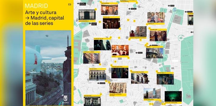 """Una pequeña muestra del folleto """"Madrid, Capital de series"""""""