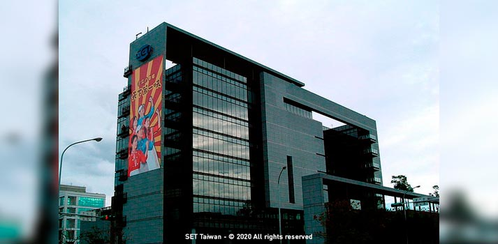 Oficinas centrales de la cadena asiática SET Taiwan